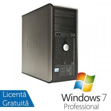 Dell Optiplex 760, Intel Core 2 Duo E8400 3.0Ghz, 4Gb DDR2, 250Gb HDD, DVD-ROM + Windows 7 Professional Calculatoare Refurbished