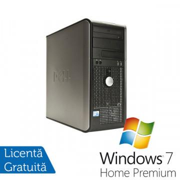 Dell Optiplex 760, Intel Core 2 Quad Q6600 2.4Ghz, 4Gb DDR2, 250Gb HDD, DVD-RW + Windows 7 Premium Calculatoare Refurbished
