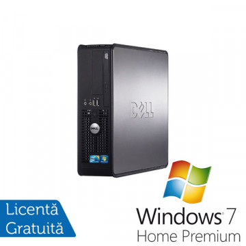 Dell Optiplex 780 SFF, Intel Core 2 Duo E8400, 3.0Ghz, 4Gb DDR3, 160Gb, DVD-RW + Windows 7 Home Premium Calculatoare Refurbished