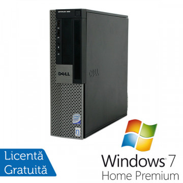 Dell OptiPlex 960 SFF, Intel Core 2 Duo E8400, 3.0Ghz, 4Gb DDR2, 250Gb, DVD-ROM + Win 7 Premium Calculatoare Refurbished
