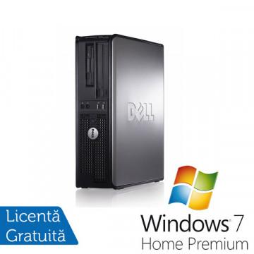 Dell Optiplex GX760 Desktop, Intel Core 2 Duo E8500, 3.16Ghz, 4Gb DDR2, 80Gb, DVD-RW + Windows 7 Premium Calculatoare Refurbished