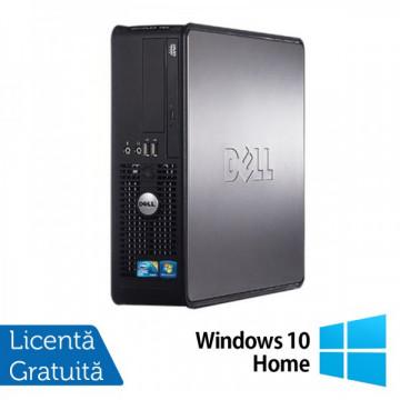 Dell Optiplex GX780 SFF, Intel Core 2 Duo E7500, 2.93GHz, 4Gb DDR3, 160GB SATA, DVD-ROM + Windows 10 Home Calculatoare Refurbished