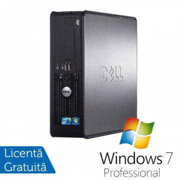 Dell Optiplex GX780 SFF, Intel Core 2 Duo E7500, 2.93GHz, 4Gb DDR3, 160GB SATA, DVD-ROM + Windows 7 Professional Calculatoare Refurbished
