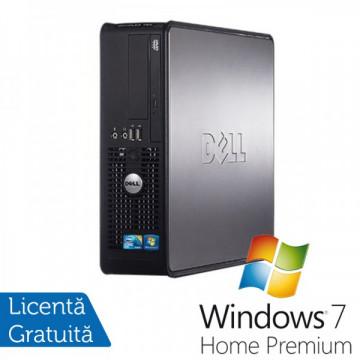 Dell Optiplex GX780 SFF, Intel Core 2 Quad Q9550, 2.83GHz, 4Gb DDR3, 250GB SATA, DVD-ROM + Windows 7 Home Premium Calculatoare Refurbished
