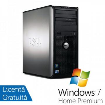 Dell Optiplex GX780 Tower, Intel Core 2 Quad Q9550, 2.83GHz, 4Gb DDR3, 250GB SATA, DVD-RW + Windows 7 home Premium Calculatoare Refurbished