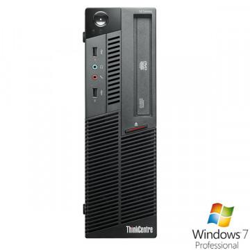 Desktop Lenovo M90p, i5-650 3.2Ghz, 4Gb DDR3, 320Gb, DVD-RW + Win 7 Pro Calculatoare Second Hand