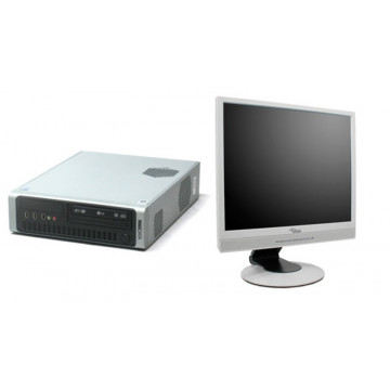 Desktop Maxdata, Core 2 Duo E6320, 1.86Ghz, 2Gb DDR2, 160Gb, DVD-ROM + LCD 17 inci grad A