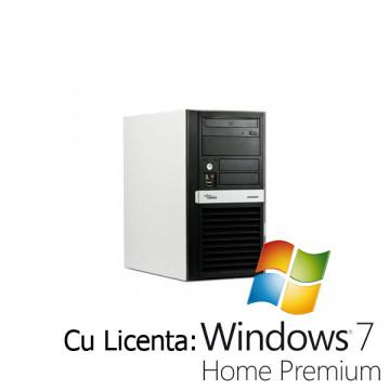 Fuijtsu Esprimo P3510, Dual Core E2200, 2.2Ghz, 2Gb, 160Gb HDD, DVD-RW + Win 7 Home Calculatoare Second Hand