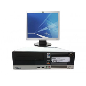 Fujitsu Esprimo E5615, AMD Athlon 64 3500+, 2.2ghz, 1gb DDR2, 40Gb, PCi-e + Monitor LCD/TFT 19 inci