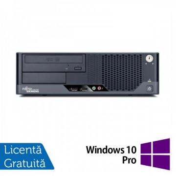 Fujitsu Esprimo E7935, Core 2 Quad Q6600 2.40Ghz, 4Gb DDR2, 250Gb HDD, DVD-ROM + Windows 10 Pro