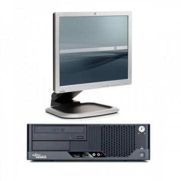 Fujitsu Esprimo E7935, Intel Core 2 Quad Q9505 2.83GHz, 4GB DDR2, 250GB SATA, DVD-ROM + Monitor HP 1750