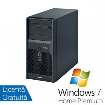 Fujitsu Esprimo p2540, Core 2 Duo E8400, 3.0Ghz, 2Gb DDR2, 80Gb, DVD-RW + Win 7 Premium Calculatoare Refurbished
