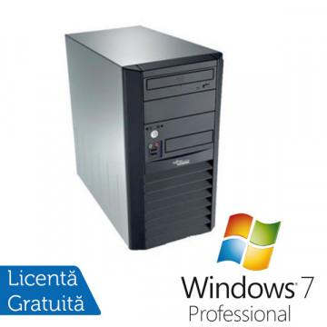 Fujitsu Esprimo P3500. Intel Pentium Dual Core E2160, 1.8Ghz, 1Gb DDR2, 160Gb, DVD-ROM + Windows 7 Professional Calculatoare Refurbished