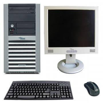 Fujitsu Esprimo P5615, AMD Sempron 3200+, 1 gb RAM, 80 Gb HDD + Monitor LCD 17 inci