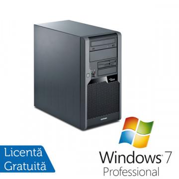 Fujitsu Esprimo P5731, Intel Core 2 Duo E8400 3.0Ghz, 4Gb DDR3, 160Gb HDD, DVD-RW + Win 7 Professional Calculatoare Refurbished