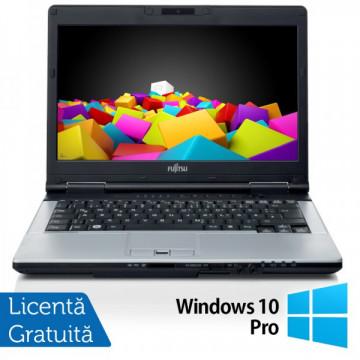 Fujitsu LIFEBOOK S751 Notebook, Intel Core i3-2310M 2.1Ghz, 4Gb DDR3, 320Gb, DVD-RW, Bluetooth, Wi-fi + Windows 10 Pro Laptopuri Refurbished