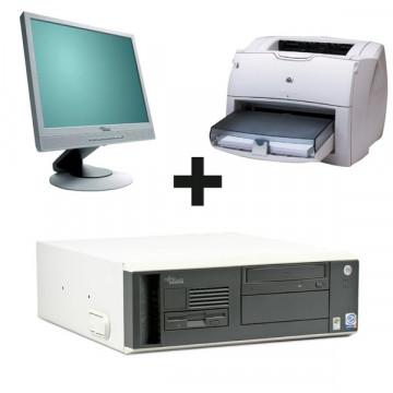 Fujitsu Scenic N300 Intel P4, 2660mhz, 512 Mb, 80 GB + Monitor  LCD 17 inci + Imprimanta A4 Hp 1300