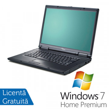 Fujitsu Siemens D9500, Core 2 Duo T8100, 2.1Ghz, 2Gb, 80Gb HDD, DVD-RW + Win 7 Premium Laptopuri Second Hand