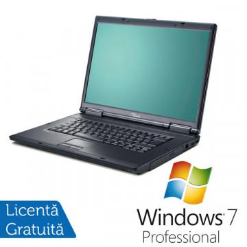 Fujitsu Siemens D9500, Core 2 Duo T8100, 2.1Ghz, 2Gb DDR2, 80Gb, DVD-RW + Win 7 Pro Laptopuri Second Hand