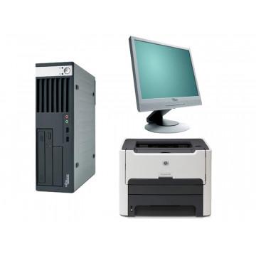 Fujitsu Siemens E5720, Core 2 Duo E6600, 2.4Ghz + Monitoare 17 Inci LCD + Imprimanta Laser  HP 1320