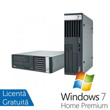Fujitsu Siemens E5925 Desktop, Intel Core 2 Duo E6550, 2Gb DDR2, 80Gb, DVD-RW + Windows 7 Premium Calculatoare Refurbished