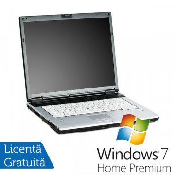Fujitsu Siemens E8310, Core 2 Duo T7250, 2.1Ghz, 2Gb, 80Gb, DVD-ROM, 15 inci + Win 7 Premium, Garantie 36 Luni Laptopuri Refurbished
