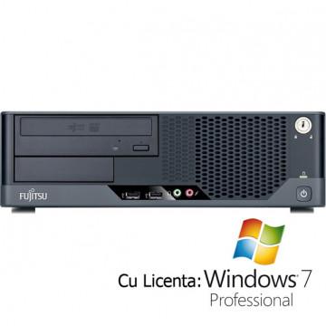 Fujitsu Siemens Esprimo E5731, Core 2 Duo E8400, 3.0Ghz, 2Gb, 160Gb, DVD-RW + Win 7 Pro Calculatoare Second Hand