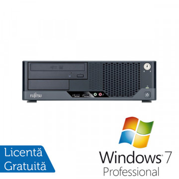 Fujitsu Siemens Esprimo E5731, Intel Core 2 Quad Q6600, 2.4Ghz, 4Gb DDR3, 160Gb, DVD-RW + Windows 7 Professional Calculatoare Refurbished