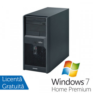 Fujitsu Siemens Esprimo p2540, Pentium Dual Core E2220, 2.4Ghz, 2Gb, 160Gb, DVD-RW + Win 7 Premium + 3 ani garantie Calculatoare Refurbished