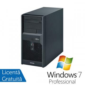 Fujitsu Siemens Esprimo p2540, Pentium Dual Core E2220, 2.4Ghz, 2Gb, 160Gb, DVD-RW + Win 7 Profesional + 3 ani garantie Calculatoare Refurbished