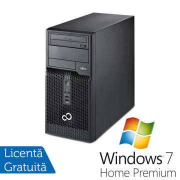 Fujitsu Siemens ESPRIMO P400, Intel Core i3-2120, 3.3Ghz, 4Gb DDR 3, 320Gb HDD, DVD-ROM + Windows 7 Home Premium Calculatoare Refurbished