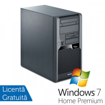 Fujitsu Siemens Esprimo P7935, Intel Core 2 Duo E8500 3.16Ghz, 2Gb DDR2, 160Gb SATA, DVD-RW + Windows 7 Premium Calculatoare Refurbished