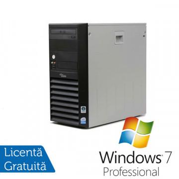 Fujitsu Siemens P2511, Intel Pentium Dual Core E2160 1.8Ghz, 1Gb DDR2, 160Gb SATA, DVD-ROM + Windows 7 Professional Calculatoare Refurbished