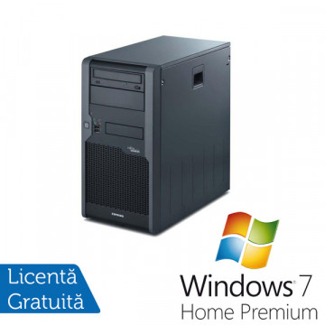 Fujitsu Siemens P2530, Intel Pentium Dual Core E2200 2.2Ghz, 2Gb DDR2, 250Gb, DVD-RW + Win 7 Premium Calculatoare Refurbished