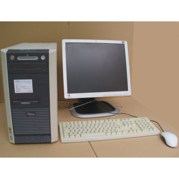 Fujitsu W600 , Intel Cel 2.8GHZ, 512MB, 40GB HDD, DVD-ROM + Monitor 17 inci + imprimanta HP 1300