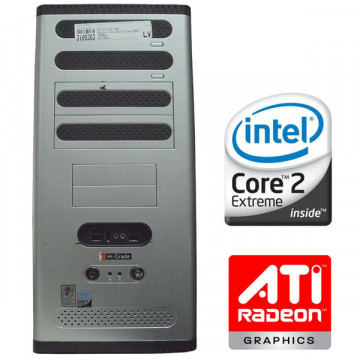 HI-Grade Tower, QuadCore Intel Core 2 Extreme Q9650, 4Gb DDR3, 500Gb HDD, AMD ATI HD2400 Calculatoare Second Hand