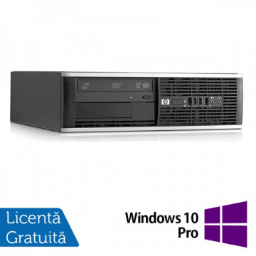 HP 6000 Pro SFF, Intel Dual Core E5700, 3.0Ghz, 4Gb DDR3, 250Gb, DVD-ROM + Windows 10 Pro Calculatoare Refurbished