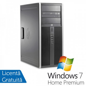 Hp 8200 elite tower, Intel Core i3-2100 3.1Ghz, 4Gb DDR3, 250 Gb SATA, DVD-ROM + Windows 7 Home Premium Calculatoare Refurbished