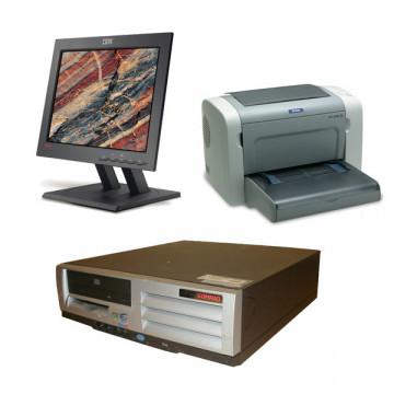 HP Compaq D510, Intel Pentium 4 2.0Ghz, 1Gb DDR, 40Gb HDD, CD-ROM + Monitor LCD 15 inch + Imprimanta Epson EPL-6200