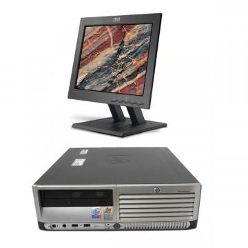 HP Compaq DC7100 SFF, Intel Pentium 4, 2.8Ghz, 1Gb DDR, 80Gb HDD, CD-ROM + Monitor LCD 15 Inch