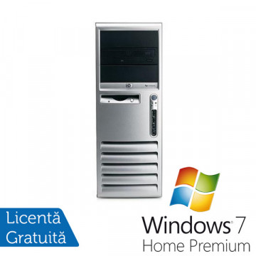 HP Compaq DC7700, Intel Core 2 Duo E6600, 2.4Ghz, 2Gb DDR2, 80Gb DVD-RW + Windows 7 Premium Calculatoare Refurbished