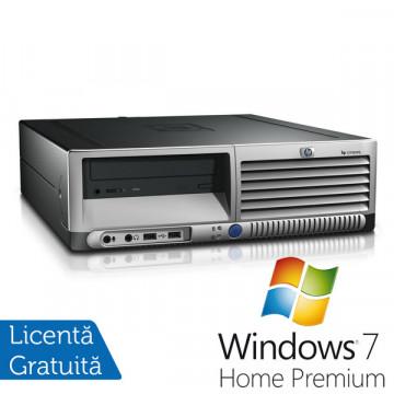 HP DC 7700 SFF, Intel Pentium Dual Core, 2.8Ghz, 1Gb, 80Gb, DVD-ROM + Win 7 Premium Calculatoare Second Hand