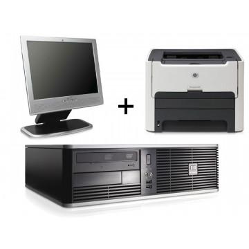 HP DC5700, Pentium E2160, 1.8Ghz, 2Gb, 80Gb + LCD 17inci + Imprimanta Hp 1320