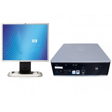 HP DC5800 SFF, Core 2 Duo E5300, 2.6Ghz, 250Gb, 4096Mb,  DVD-RW + LCD 19 inci diverse modele