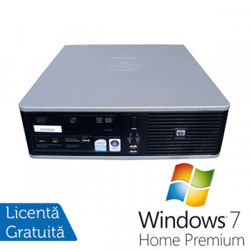 HP DC5800 SFF, Intel Core 2 Duo E8400, 3.0Ghz, 2Gb DDR2,  80Gb HDD, DVD-ROM + Win 7 Premium Calculatoare Refurbished
