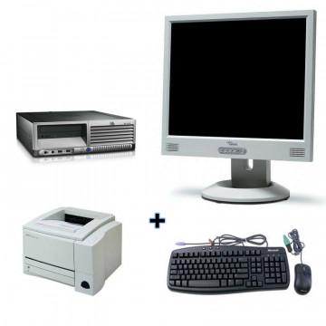 HP DC7600, Pentium 4, 2.8ghz,1gb, 80 GB + Monitor lcd 15 + Imprimanta Laser HP