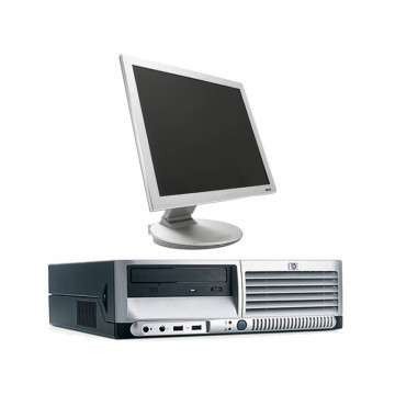 HP DC7600 Pentium 4, 3.0GHz, 1Gb DDR2, 80Gb, DVD-ROM + Monitor LCD 15 inci