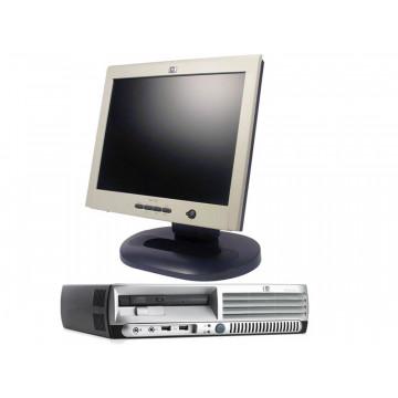 HP DC7600 USFF, Pentium 4 3.0Ghz, 1Gb, 80Gb + Monitor LCD 15 inci HP L1520