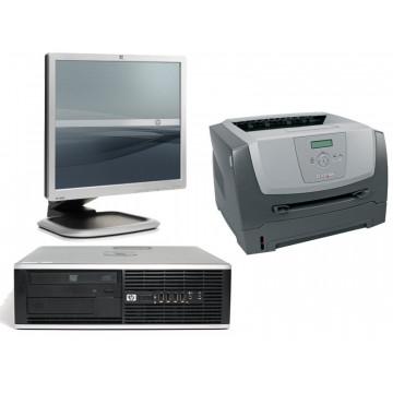 Hp DC8000, Core 2 Duo E7500, 2.93Ghz + Monitor LDC 19 inci + Imprimanta Lexmark E350D