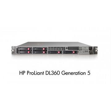 HP DL360 G5, 2x Xeon Dual Core 5160 3.0Ghz, 4Gb DDR2 FBD, 2x 146Gb SAS Servere second hand